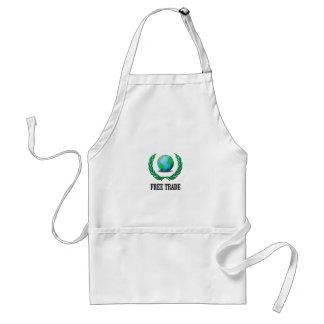 free trade fern standard apron