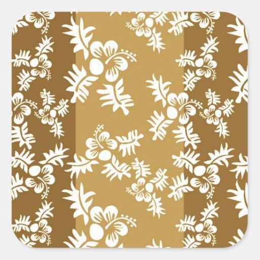 Free Vector Seamless Flower Pattern4 hawaiian Stickers