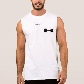 Free weights sleeveless shirt
