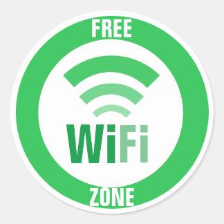 Free WiFi Sign Classic Round Sticker