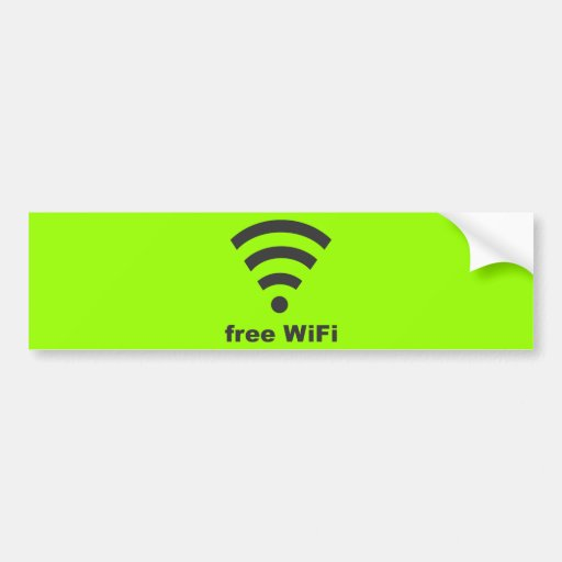 FREE WIFI Vector COMPUTER INTERNET ADVERTISING Bumper Sticker