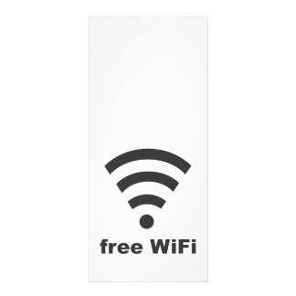FREE WIFI Vector COMPUTER INTERNET ADVERTISING Full Colour Rack Card