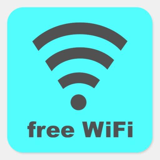 FREE WIFI Vector COMPUTER INTERNET ADVERTISING Sticker