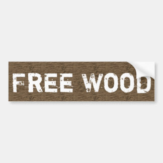 Free Wood Bumper Sticker