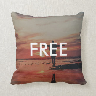 Free (Young and Wild) Throw Pillow