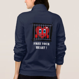 Free your heart california fleece zip jogger