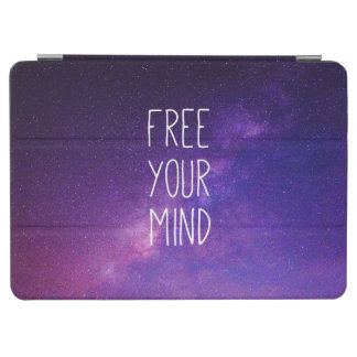 """Free Your Mind"" Quote Blue Night Sky iPad Air Cover"