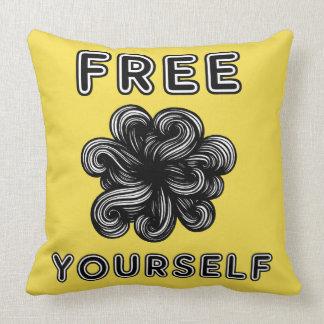 """Free Yourself"" Throw Pillow 20"" x 20"""