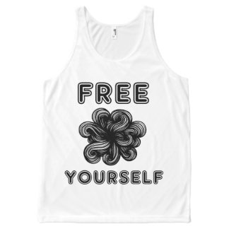 """""""Free Yourself"""" Unisex Tanktop All-Over Print Singlet"""