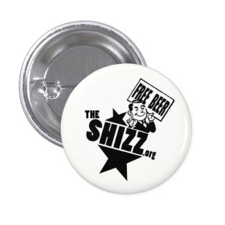 freebeer shizz logo pinback buttons