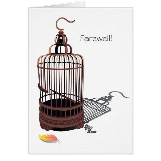 Freebird Farewell Card