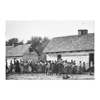 Freed Slaves J J Smith Plantation South Carolina Stretched Canvas Print
