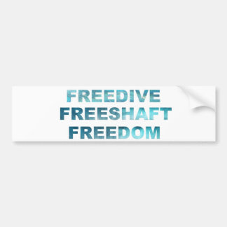 FREEDIVE FREESHAFT FREEDOM BUMPER STICKER