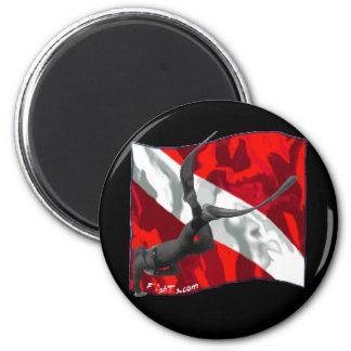 freediving copy 6 cm round magnet