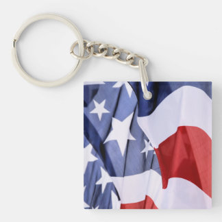 Freedom American Flag Square 1-Sided Keychains