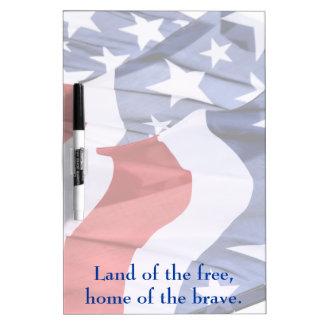 Freedom American Flags Dry Erase Board