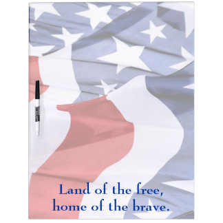 Freedom American Flags Large Dry Erase Board