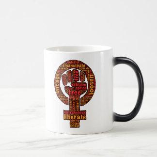 Freedom and Liberty word-art images Magic Mug