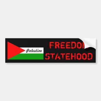 FREEDOM AND STATEHOOD FOR PALESTINE Bumpersticker Bumper Sticker