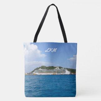 Freedom at Sint Maarten Monogrammed Tote Bag