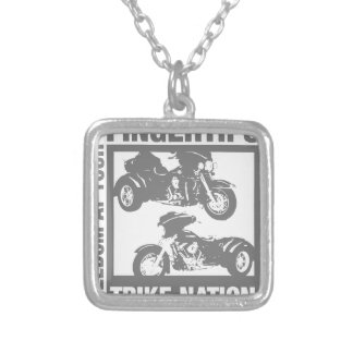 Freedom at your fingertips - trike nation silver plated necklace