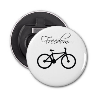 Freedom Bicycle Button Bottle Opener