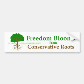 Freedom Blooms Bumper Sticker