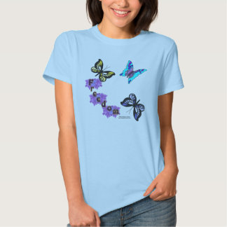 Freedom Butterflies Ladies Babydoll T-Shirt