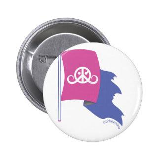 """Freedom button 2 25"""" fuchsia Pirate flag Button"""