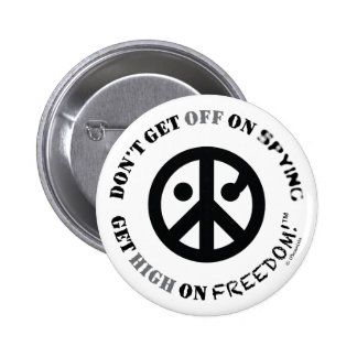 "Freedom button round 2 25"" Get Off Get High Buttons"