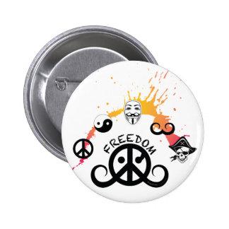 "Freedom button (round 2.25""; origin/mini splash) pinback button"