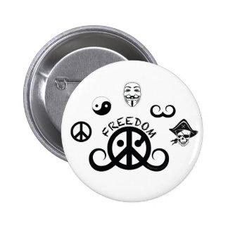Freedom button round 2 25 origin motif pinback button