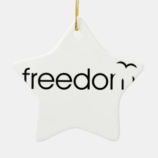 Freedom Ceramic Star Decoration