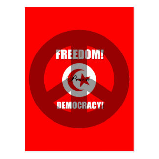 freedom democracy Tunisia Postcard