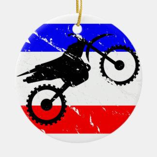 Freedom Dirt-Bike FLAIR Ceramic Ornament