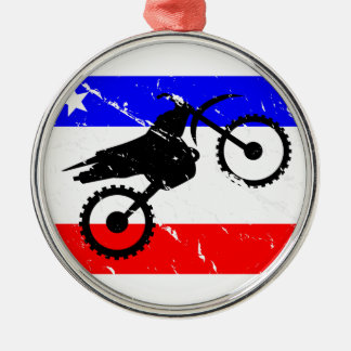 Freedom Dirt-Bike FLAIR Metal Ornament