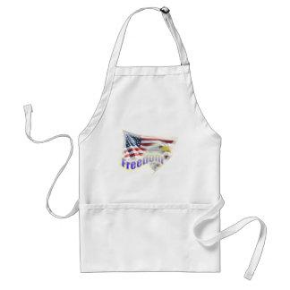 Freedom Eagle American Flag Adult Apron