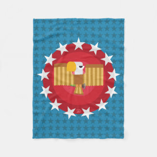 Freedom Eagle (Blue) - Fleece Blanket