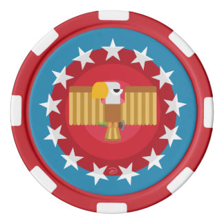 Freedom Eagle (Blue) - Poker Chip