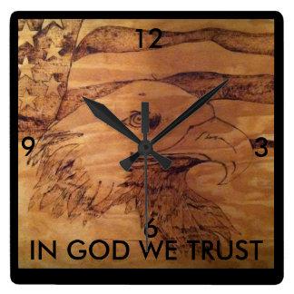 "Freedom Eagle Clock "" In God We Trust"""