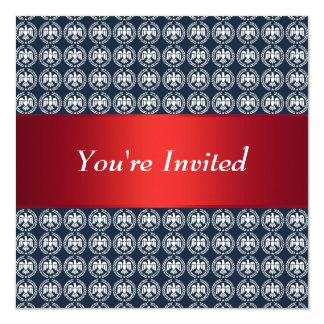 Freedom Eagle Patriotic Red White Blue 13 Cm X 13 Cm Square Invitation Card