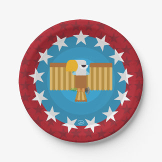Freedom Eagle (Red) - Paper Plate
