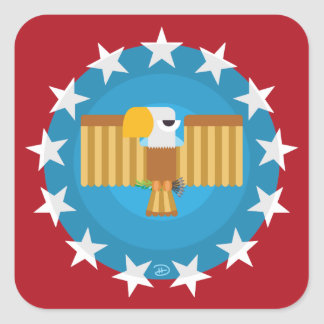 Freedom Eagle (Red) - Square Stickers