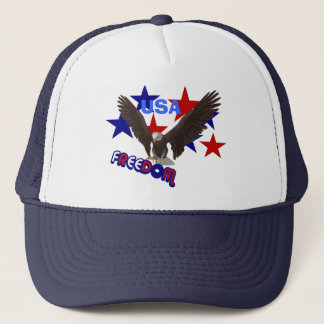 Freedom Eagle USA Patriotic Trucker Hat