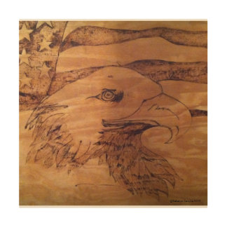 Freedom Eagle Wood Wall Decor