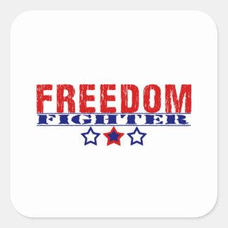 Freedom Fighter Square Sticker