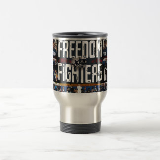 freedom fighters banner logo products travel mug