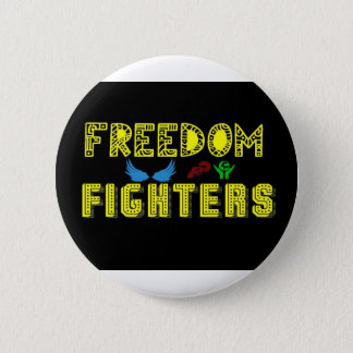 freedom fighters new logo 6 cm round badge