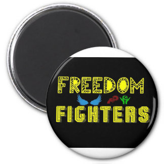 freedom fighters new logo magnet