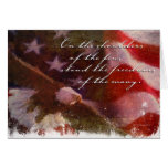 Freedom Flag with Eagle-4 Greeting Card